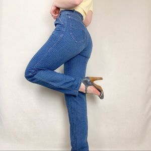 Lee Vintage High Rise Pinstriped Straight Jeans